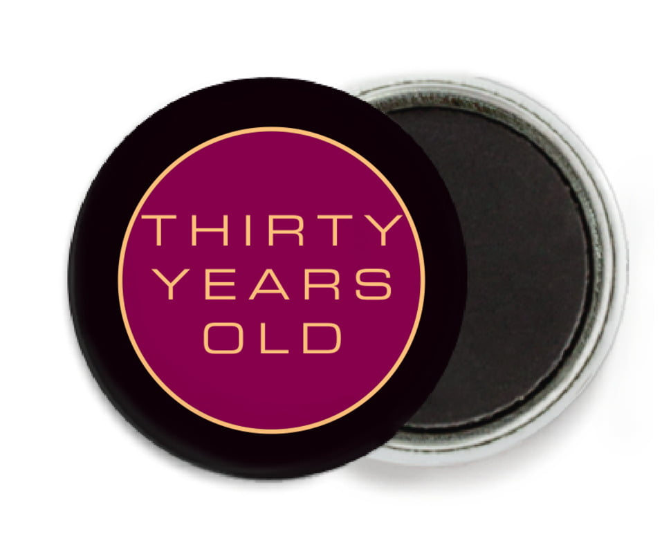 custom button magnets - burgundy - fifth avenue (set of 6)