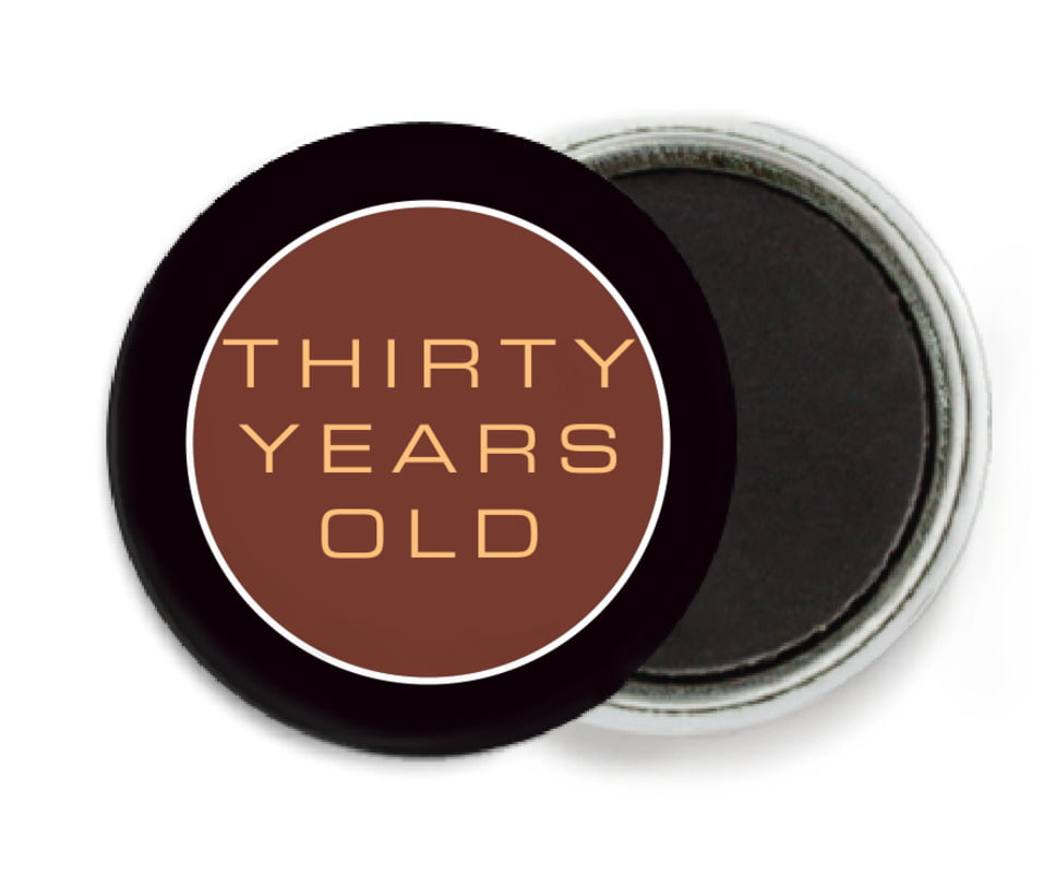 custom button magnets - chocolate - fifth avenue (set of 6)