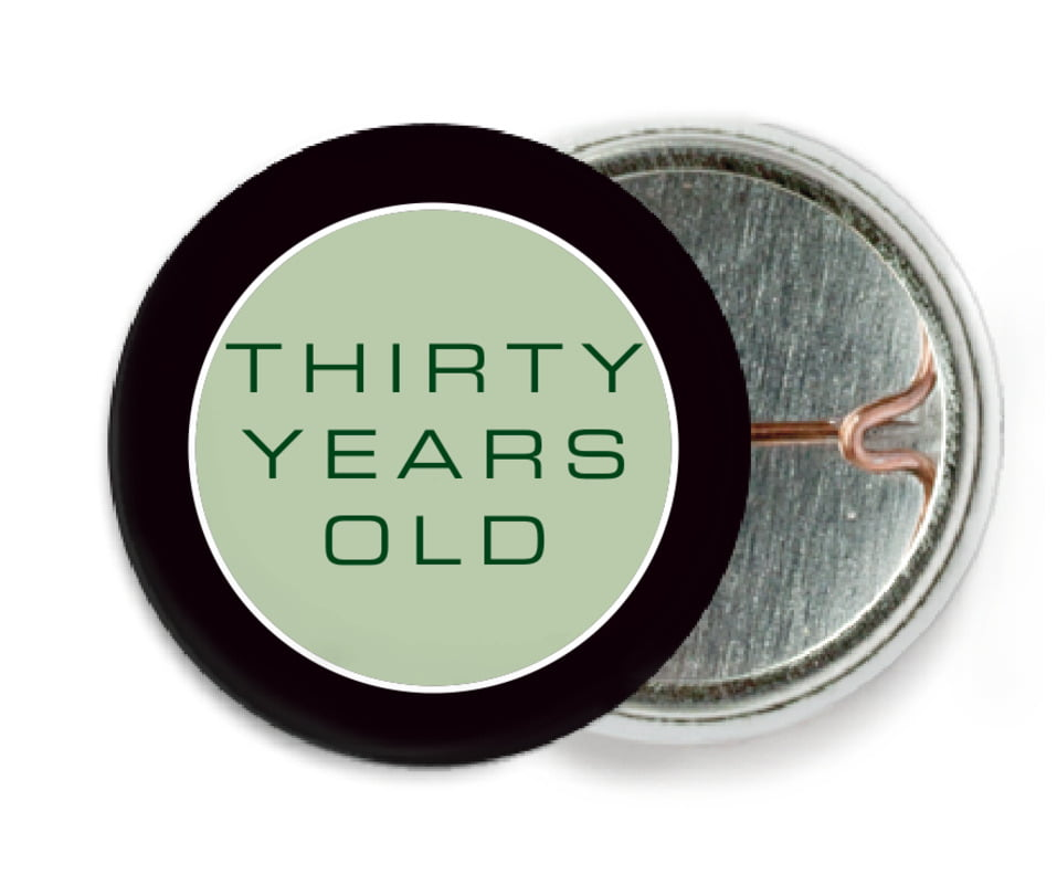 custom pin back buttons - sage - fifth avenue (set of 6)
