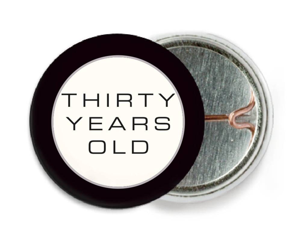 custom pin back buttons - tuxedo - fifth avenue (set of 6)