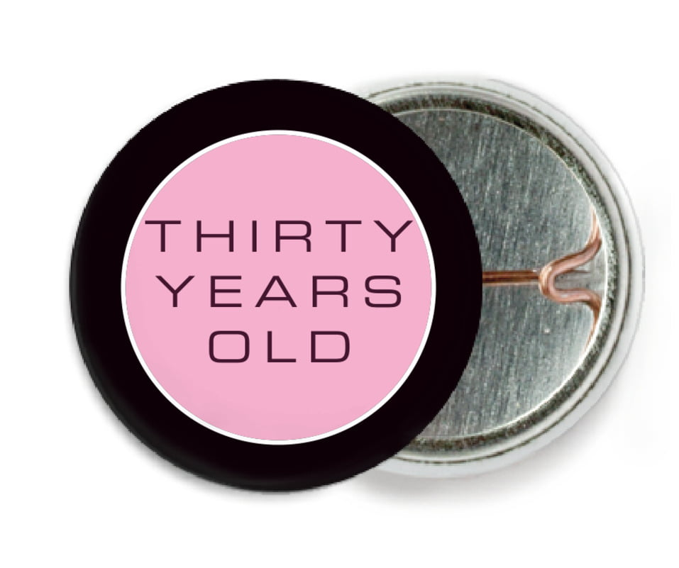custom pin back buttons - pale pink - fifth avenue (set of 6)