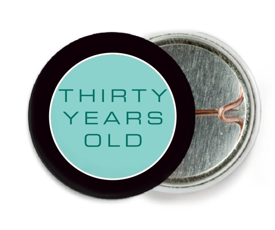 custom pin back buttons - aruba - fifth avenue (set of 6)