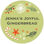 Floral Candycane christmas labels