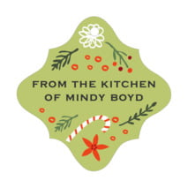 Floral Candycane fancy diamond hang tags