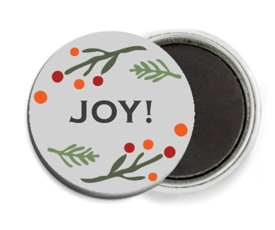 custom button magnets - stone - floral candycane (set of 6)