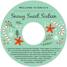 Floral Candycane cd labels