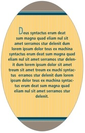 Five & Dime oval text labels