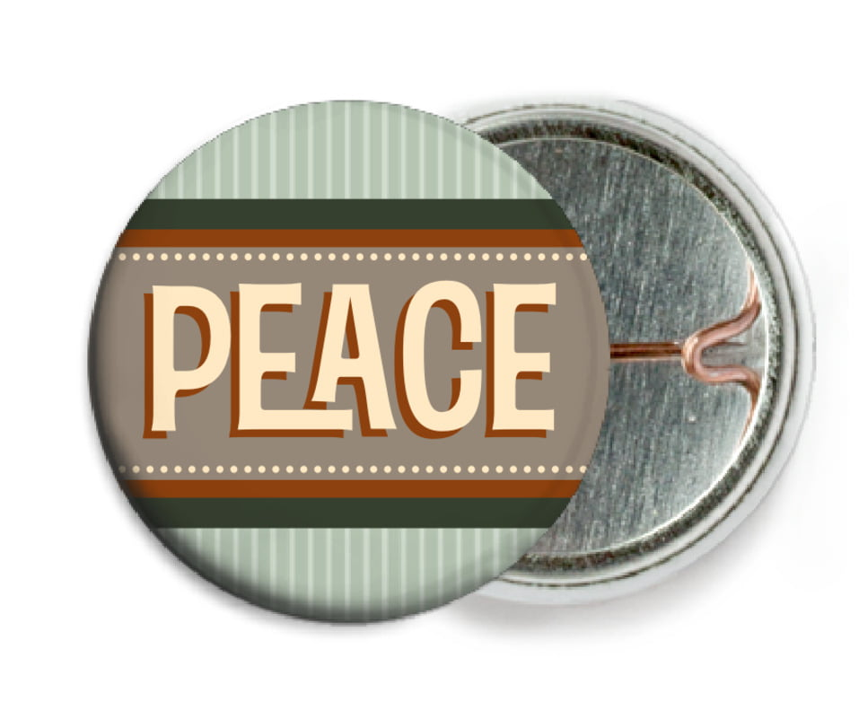 custom pin back buttons - sage - five & dime (set of 6)