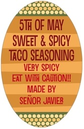 Fest tall oval labels