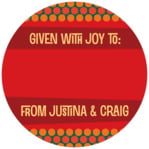 Fest small circle gift labels