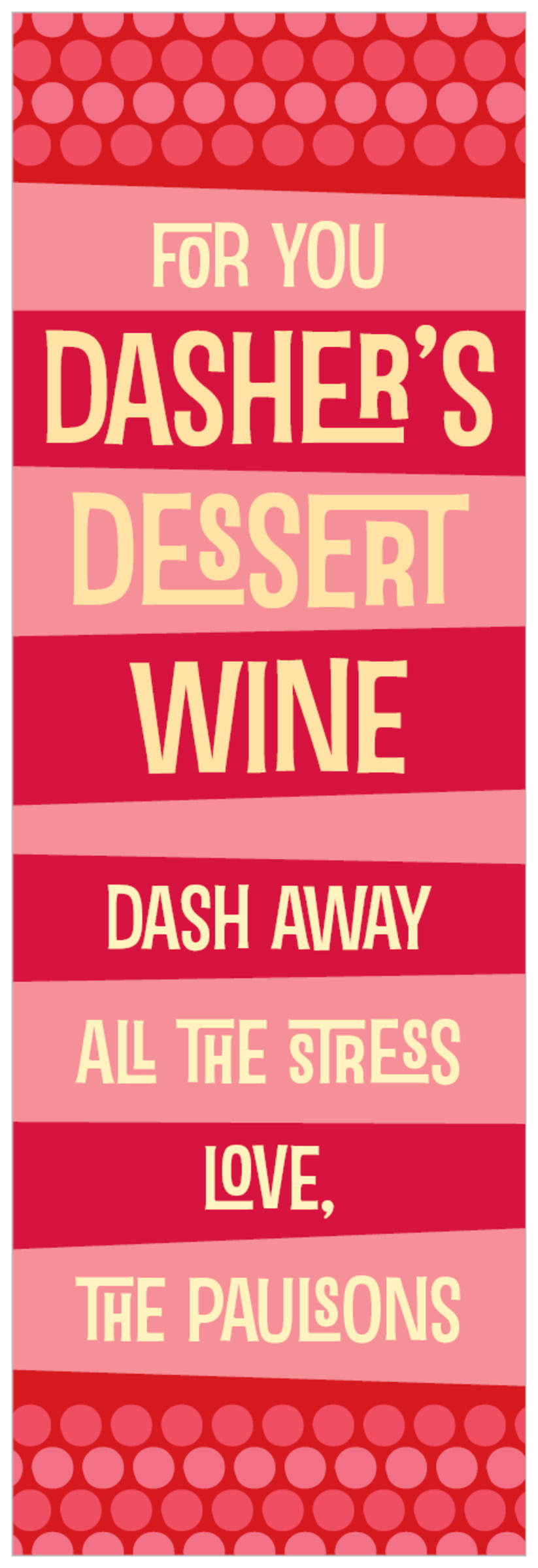 tall food/craft labels - red - fest (set of 14)