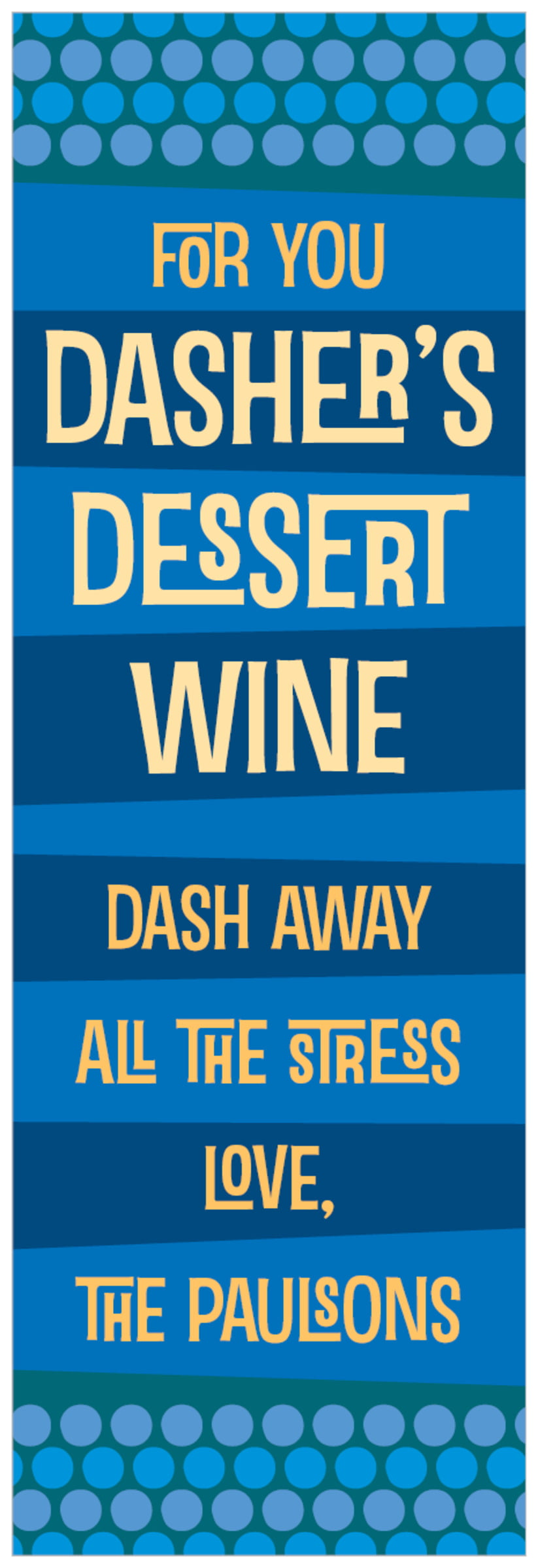 tall food/craft labels - cobalt - fest (set of 14)