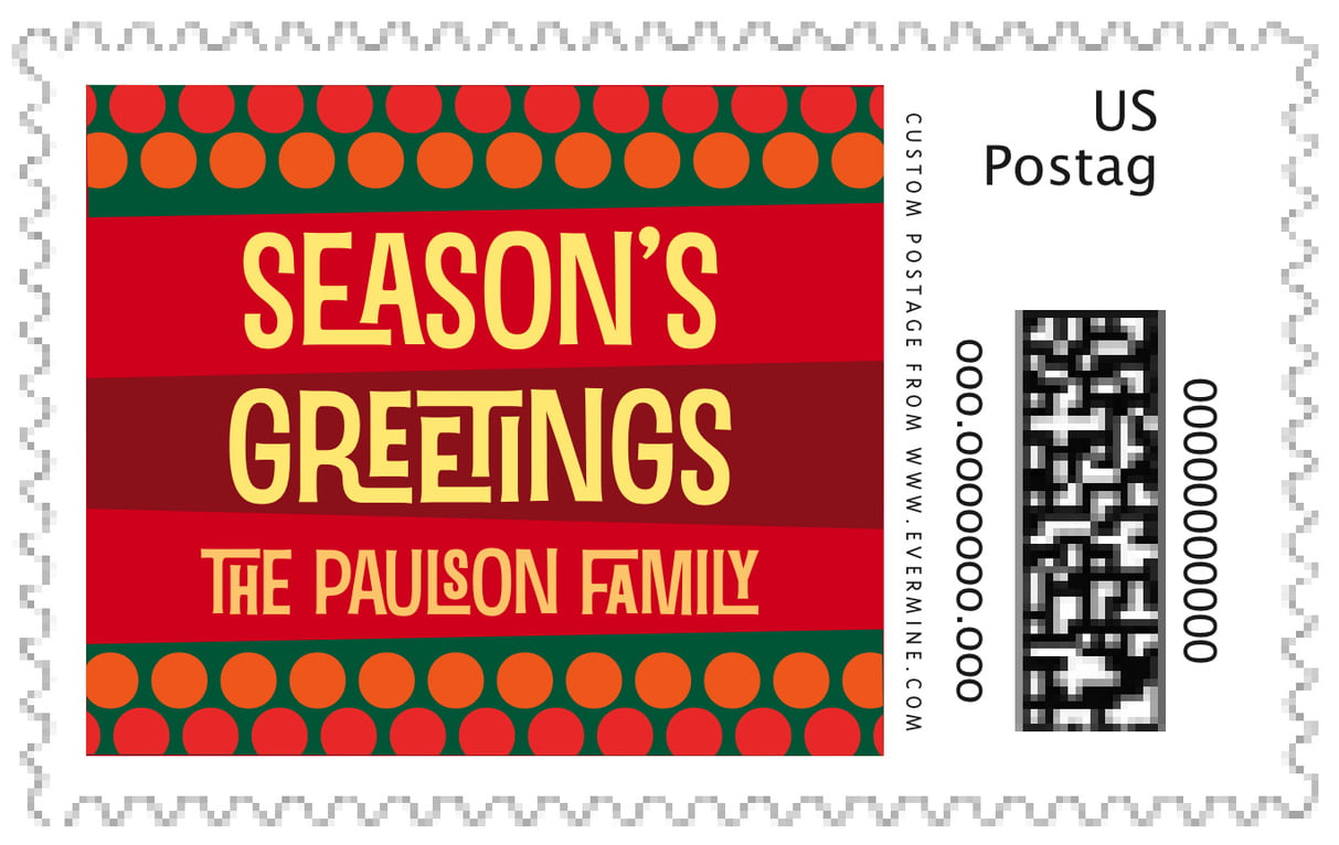 custom large postage stamps - fiesta - fest (set of 20)