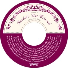 Filigree Cd Label In Burgundy