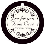 Filigree circle hang tags