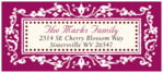 Filigree Designer Address Label In Burgundy