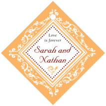 Filigree anniversary tags