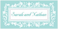 Filigree rectangle labels