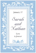 Filigree tall rectangle labels