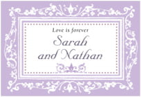 Filigree wide rectangle labels