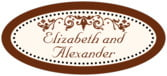 Filigree oval labels