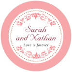 Filigree circle labels