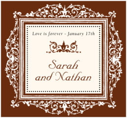 Filigree large rectangle labels