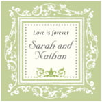 Filigree square labels