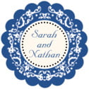 Filigree scallop labels