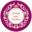 Filigree small round labels