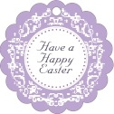 Filigree easter tags