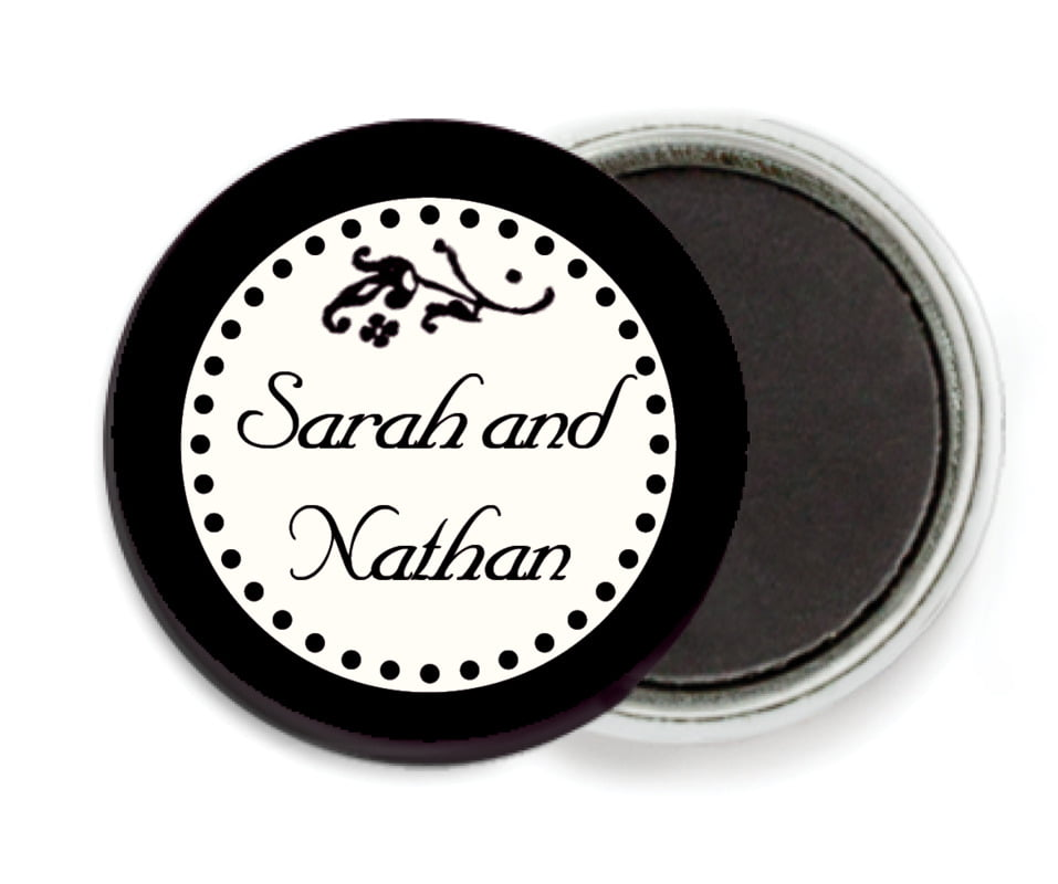 custom button magnets - tuxedo - filigree (set of 6)