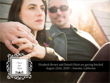 custom save-the-date cards - tuxedo - filigree (set of 10)