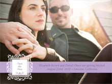 custom save-the-date cards - lilac - filigree (set of 10)