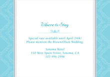 custom enclosure cards - bahama blue - filigree (set of 10)