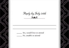 custom response cards - tuxedo - filigree (set of 10)