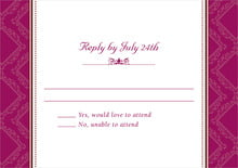 custom response cards - burgundy - filigree (set of 10)