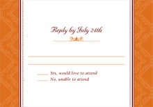 custom response cards - spice - filigree (set of 10)