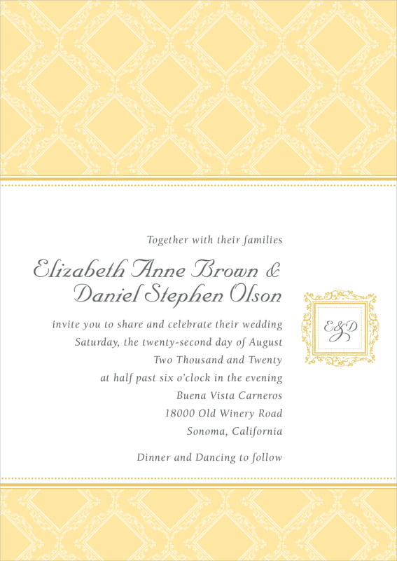 custom invitations - sunburst - filigree (set of 10)