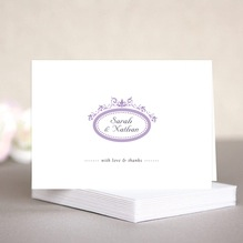 Filigree wedding note cards