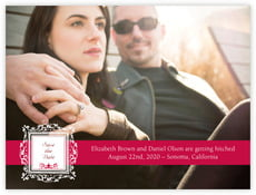 Filigree save the date cards