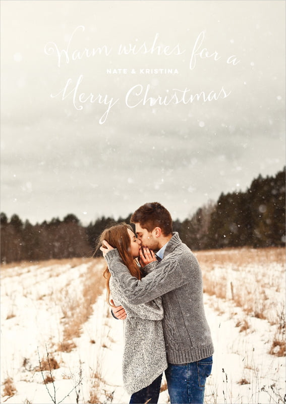 holiday cards - mint - falling snow (set of 10)
