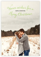 Falling Snow photo cards - vertical