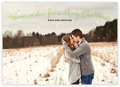 Falling Snow photo cards - horizontal