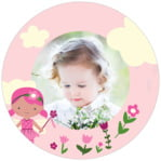 Fairy Circle Photo Label In Pink