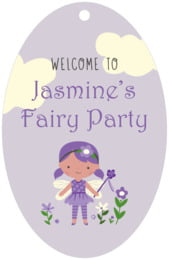Fairy large oval hang tags