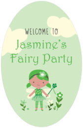 Fairy tall oval labels