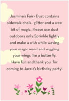 Fairy Text Label In Pink