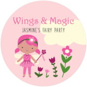 Fairy Round Coaster In Pink
