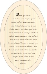 Folio oval text labels